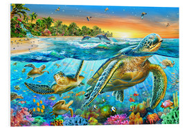 Foam board print  Underwater turtles - Adrian Chesterman