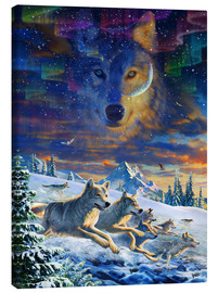 Canvas  Moonlight Wolfpack - Adrian Chesterman