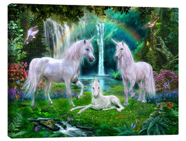 Canvas  Rainbow Unicorn Family - Jan Patrik Krasny