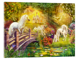 Acrylic print  Enchanted garden unicorns - Jan Patrik Krasny
