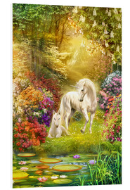 Foam board print  Unicorns in the garden - Jan Patrik Krasny