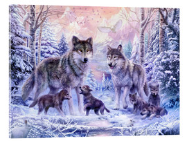Acrylic print  Winter wolf family - Jan Patrik Krasny