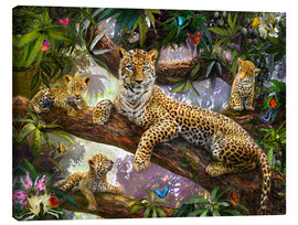 Canvas print  Tree Top Leopard Family - Jan Patrik Krasny