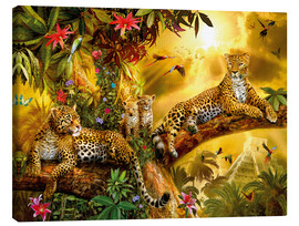 Canvas print  Jungle Jaguars - Jan Patrik Krasny