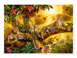 Premium poster Jungle Jaguars