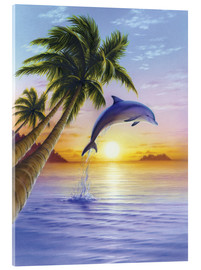 Acrylic glass  Morning dolphin - Robin Koni