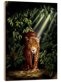 Wood print  Jungle leopard - Robin Koni