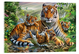 Acrylic print  Tiger and Cubs - Adrian Chesterman