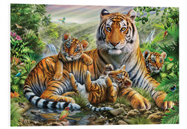 Foam board print  Tiger and Cubs - Adrian Chesterman