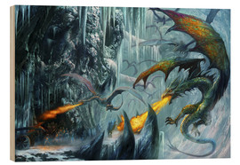 Wood print  The cave - Dragon Chronicles