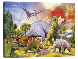 Canvas  Land of the dinosaurs - Paul Simmons