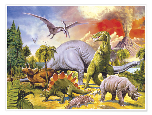 Land Of The Dinosaurs Posters And Prints Posterlounge Com