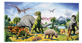 Acrylic glass  Land of the dinosaurs - Paul Simmons