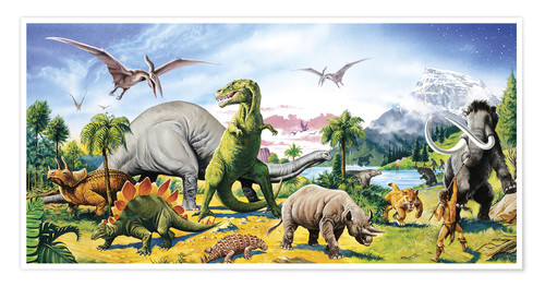 Premium poster Land of the dinosaurs