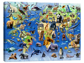 Canvas print  One Hundred Endangered Species - Adrian Chesterman