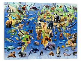 Foam board print  One Hundred Endangered Species - Adrian Chesterman