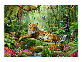 Premium poster  Tiger in the jungle - Adrian Chesterman