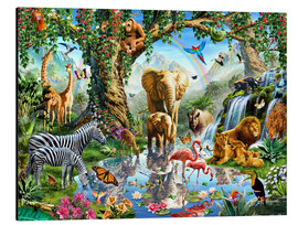 Aluminium print  The paradise of animals - Adrian Chesterman