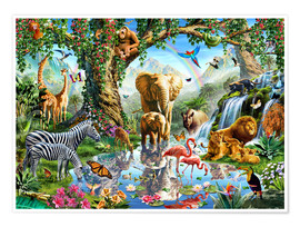 Premium poster The paradise of animals