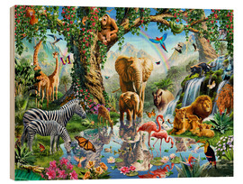 Wood  The paradise of animals - Adrian Chesterman