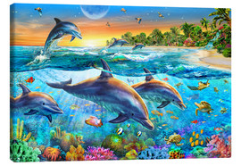 Canvas print  Dolphin bay - Adrian Chesterman