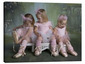 Canvas print  Three Ballerina Girls - Eva Freyss