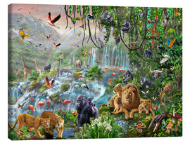 Canvas print  Jungle waterfall - Adrian Chesterman