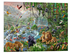 Foam board print  Jungle waterfall - Adrian Chesterman