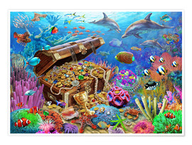 Premium poster  Undersea Treasure - Adrian Chesterman