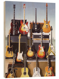 Wood print  Guitars - Adrian Chesterman