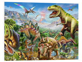 Foam board print  Group of Dinosaurs - Adrian Chesterman