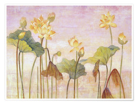 Poster  Yellow lotus - Ailian Price