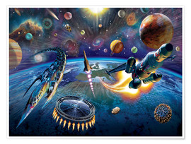 Premium poster  Outer Space - Adrian Chesterman