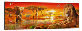 Aluminium print  Savanna Sundown - Adrian Chesterman