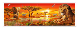 Premium poster  Savanna Sundown - Adrian Chesterman