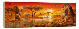 Wood print  Savanna Sundown - Adrian Chesterman
