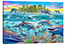 Canvas  Dolphin Reef - Adrian Chesterman