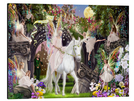 Aluminium print  Fairy Queen with unicorn - Garry Walton