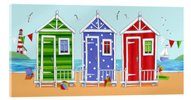 Acrylic print  Colorful beach huts - Peter Adderley