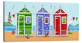 Canvas  Colorful beach huts - Peter Adderley