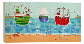 Wood print  Boats - Peter Adderley