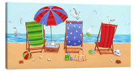 Canvas print  Deckchairs - Peter Adderley
