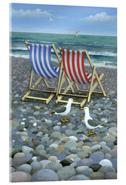 Acrylic print  Deck Chairs - Peter Adderley