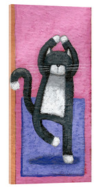 Acrylic print  Yoga for Cats - Peter Adderley