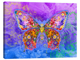 Canvas print  Blue Butterfly Floral - Alixandra Mullins