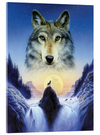 Acrylic print  Cosmic wolf - Andrew Farley
