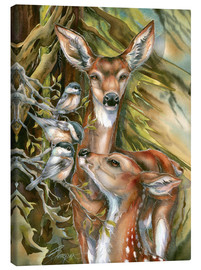 Canvas  Deers and birds - Jody Bergsma