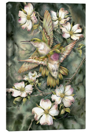 Canvas print  Hummingbirds and flowers - Jody Bergsma