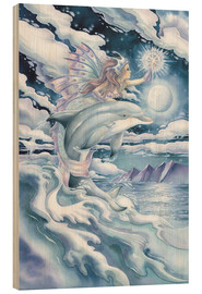 Wood  Wish upon a dolphin star - Jody Bergsma