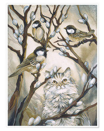 Premium poster Cat and birds